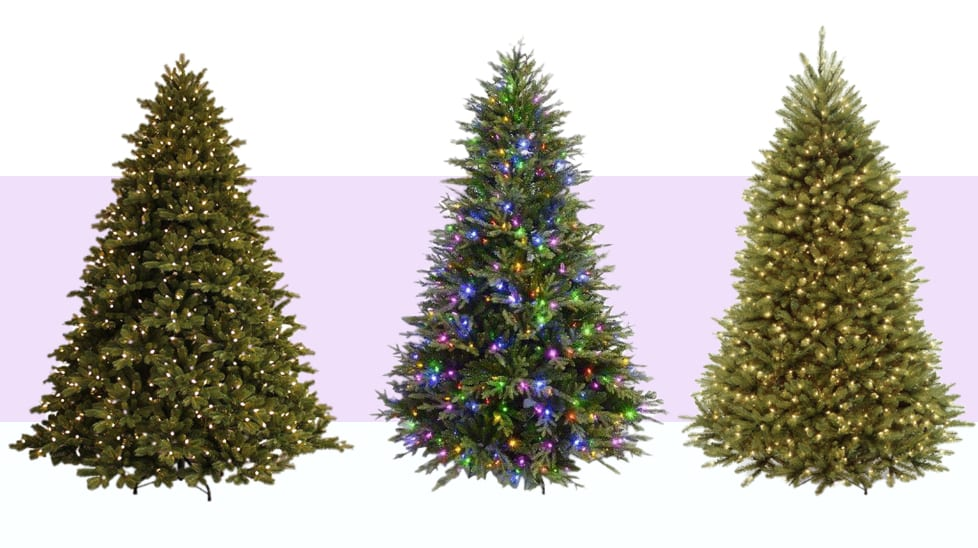 8 Best Pre-Lit Artificial Christmas Trees in 2016 - Top-Rated Fake Christmas Tree Reviews 2017